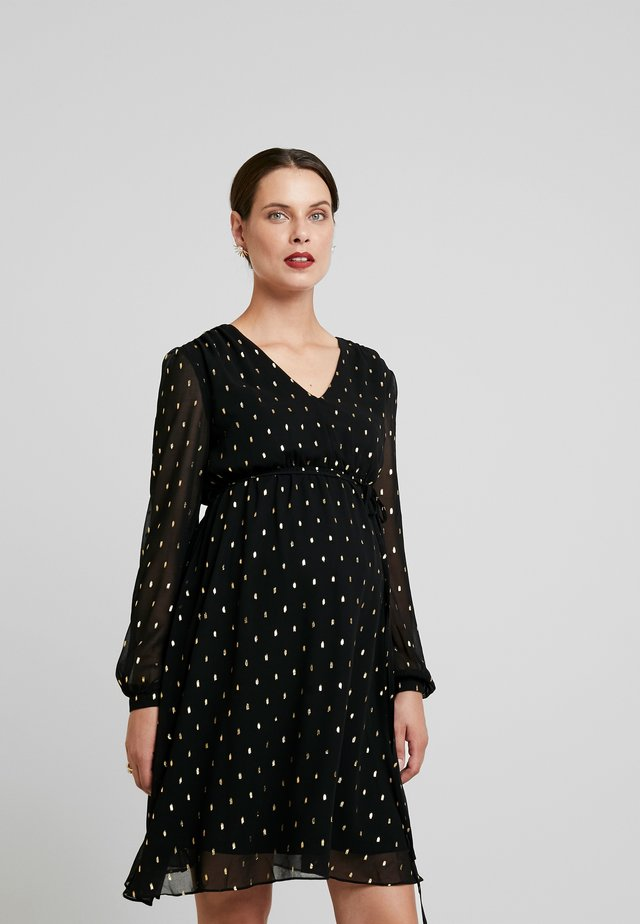 DRESSES - Cocktailjurk - black/gold