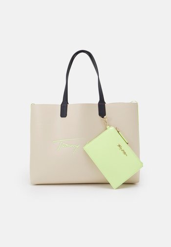 ICONIC TOTE SIGN - Tote bag - beige