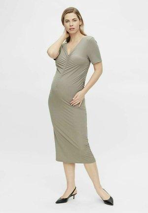 KURZ MLNICOLE - Jersey dress - vintage khaki