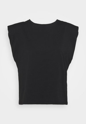 NMMINNA PADDED - Jednoduché triko - black
