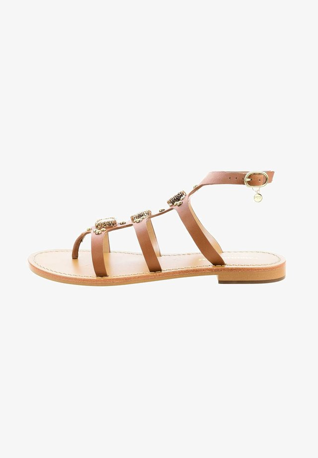 RAMISETO - Sandály s odděleným palcem - brown