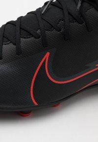 Nike Performance - MERCURIAL 7 CLUB FG/MG - Moulded stud football boots - black/dark smoke grey - 5