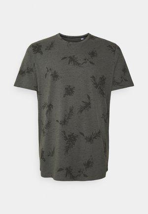 JORCALI TEE CREW NECK - Print T-shirt - sedona sage