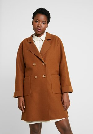 UNSTRUCTURED LIGHT COAT - Korte frakker - dark brown