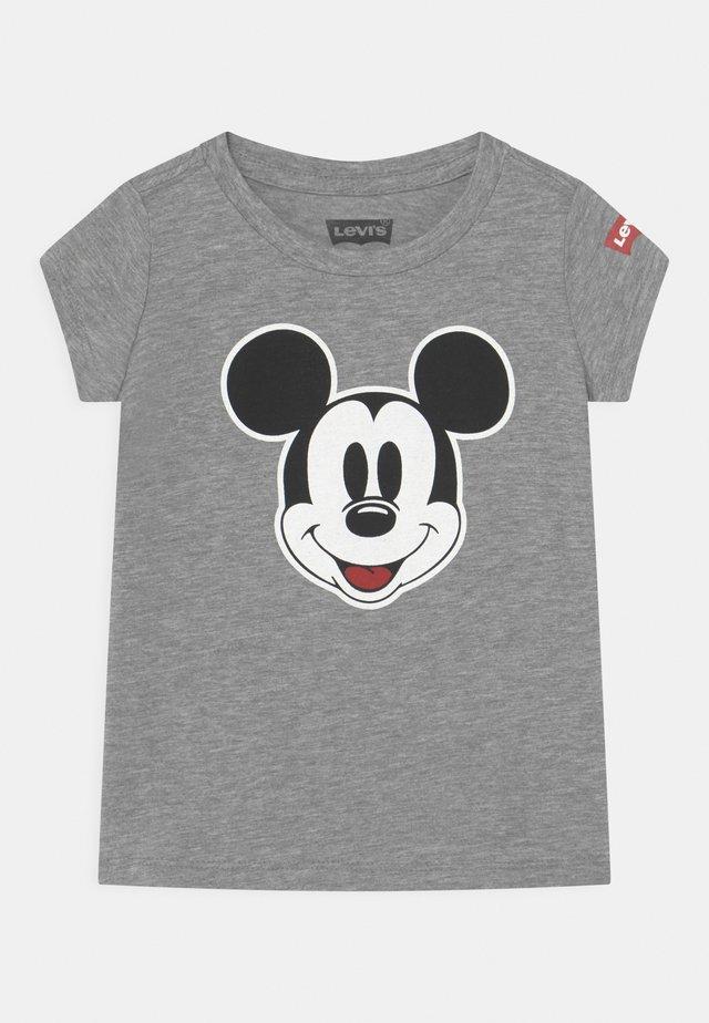 MICKEY MOUSE FACE - Print T-shirt - dark grey heather