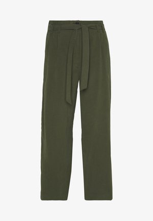 SOFT FLOWING CULOTTE - Trousers - woodland green
