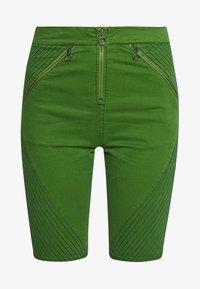 House of Holland - BODY CON ZIP  - Denim shorts - green - 3