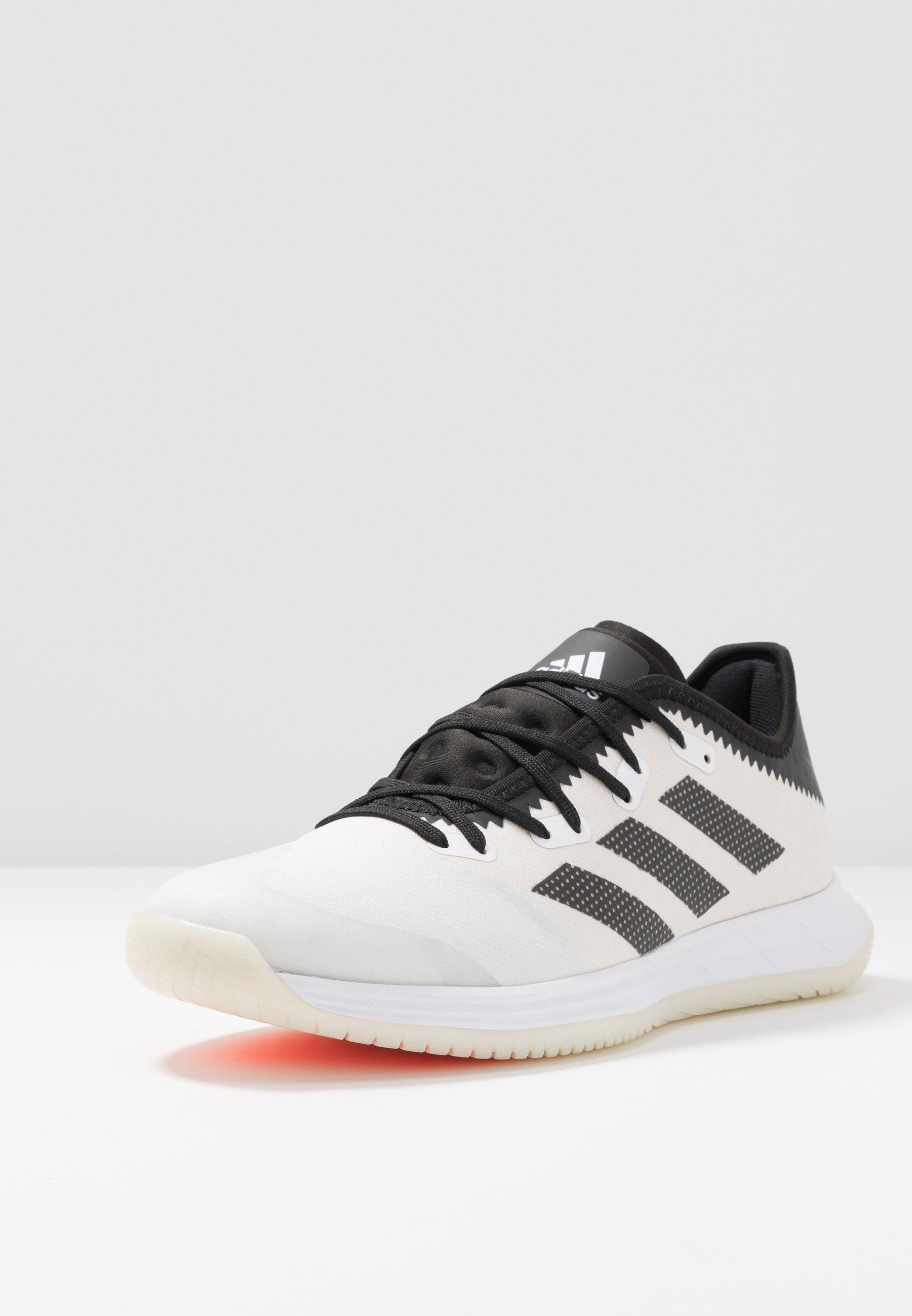 Big Sale Cheapest adidas Performance ADIZERO FASTCOURT  - Handball shoes - footwear white/core black/solar red | men's shoes 2020 yJdEg