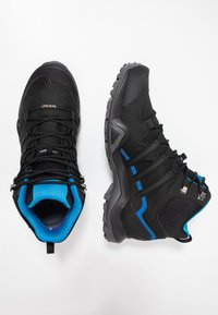 adidas Performance - TERREX SWIFT R2 MID GTX GORETEX HIKING SHOES - Hikingsko - core black/bright blue - 1