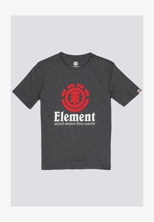 VERTICAL - Print T-shirt - charcoal heathe