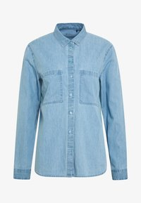 edc by Esprit - EASY BLOUSE - Camisa - blue light wash - 5