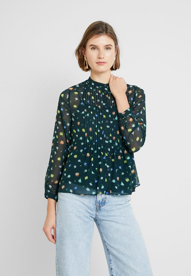 SCATTERED FLORAL PINTUCK - Bluser - green/multi