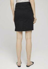TOM TAILOR - Pencil skirt - deep black - 2