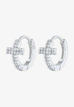 CREOLEN KREUZ GLAUBE RELIGION - Earrings - silber