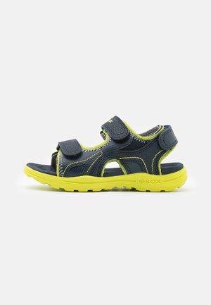 VANIETT BOY - Walking sandals - navy/lime