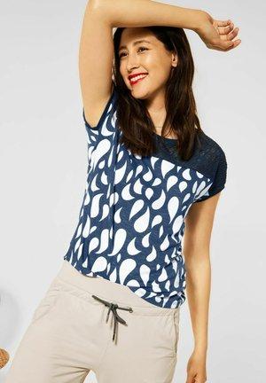 VIANN - Print T-shirt - blau
