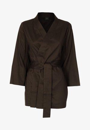 LOUNGE KIMONO - Tunn jacka - dark brown
