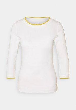 SOLID TEE - Top sdlouhým rukávem - off-white