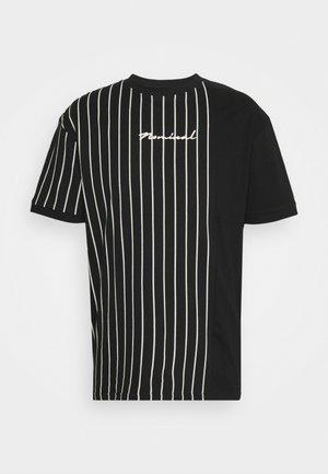 STRIPE - T-shirt con stampa - black