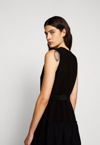 3.1 Phillip Lim - V NECK TANK DRESS SHIRRED SKIRT - Day dress - black - 3