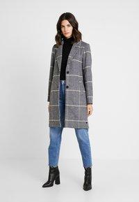 TOM TAILOR - CHECK COAT - Classic coat - black/navy - 1