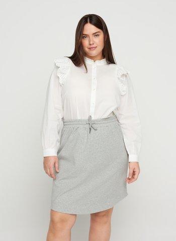 Minifalda - light grey melange