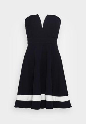 BELINDA CUPPED SKATER DRESS - Cocktail dress / Party dress - navy/white