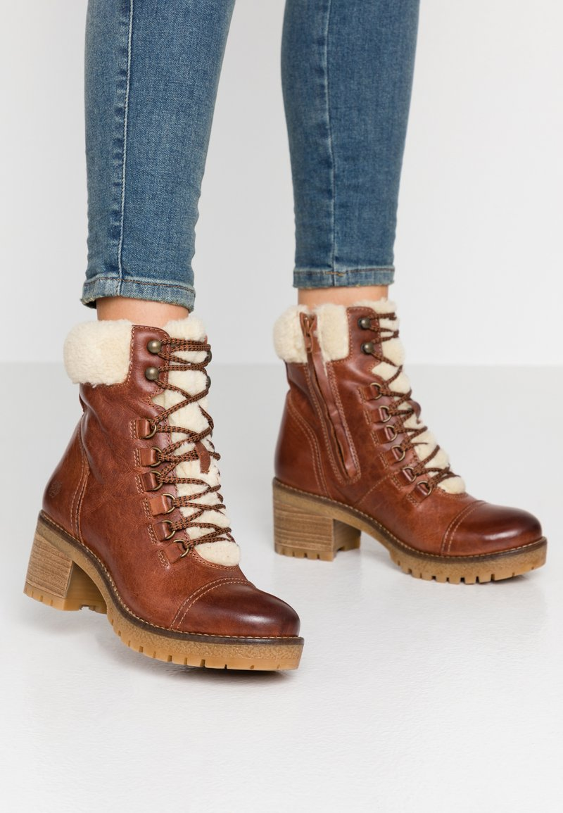 Apple of Eden - AMELIE - Lace-up ankle boots - brown
