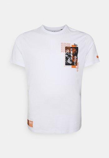 FUTURE WORLD PRINT CREW TEE - Print T-shirt - white