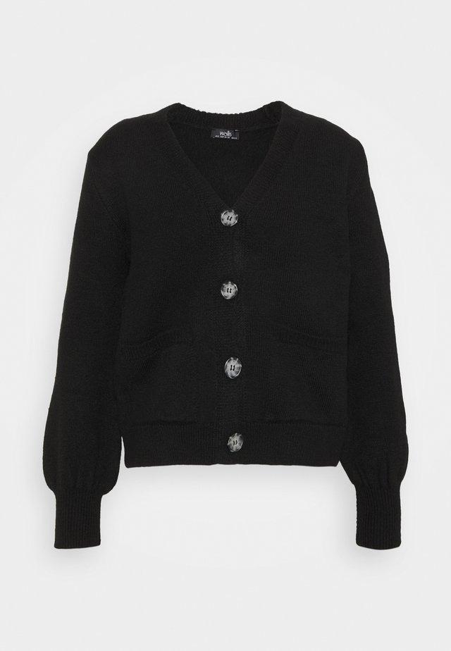 BOXY - Cardigan - black