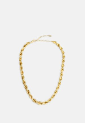 CHUNKY ROPE CHAIN NECKLACE - Collar - pale gold-coloured