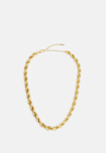 CHUNKY ROPE CHAIN NECKLACE - Necklace - pale gold-coloured