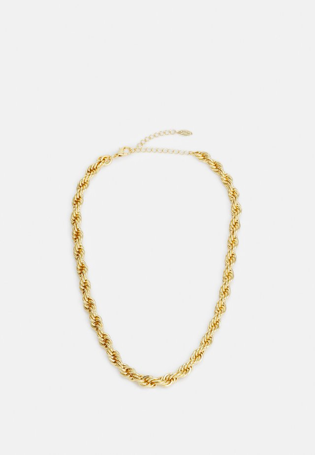 CHUNKY ROPE CHAIN NECKLACE - Halsband - pale gold-coloured