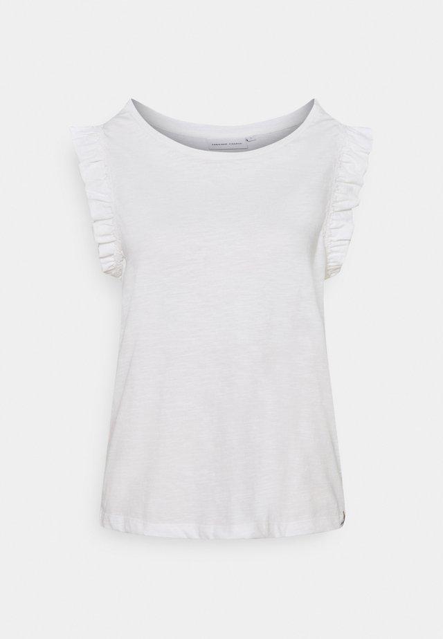 PHIL FRILL - T-shirt med print - cream white