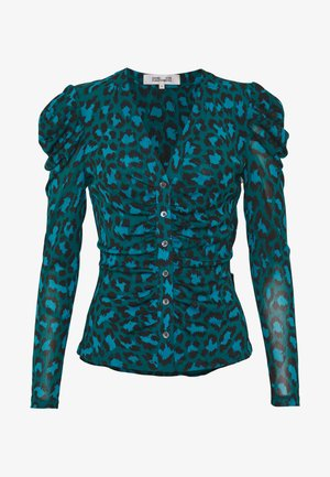 GLADYS - Blouse - natural leopard simple evergrn