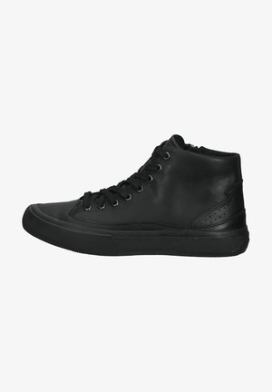 Vysoké tenisky - black leather
