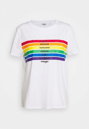 PRIDE TEE - Print T-shirt - white