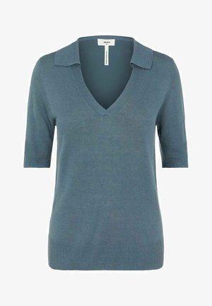 MIT KURZEN ÄRMELN GESTRICKT - T-shirt basique - blue mirage