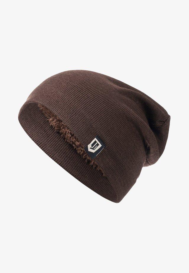 LONG SLOUCH BEANIE PALERMO HOODIE - Bonnet - dark brown