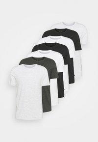 Basic T-shirt - white/light grey/black