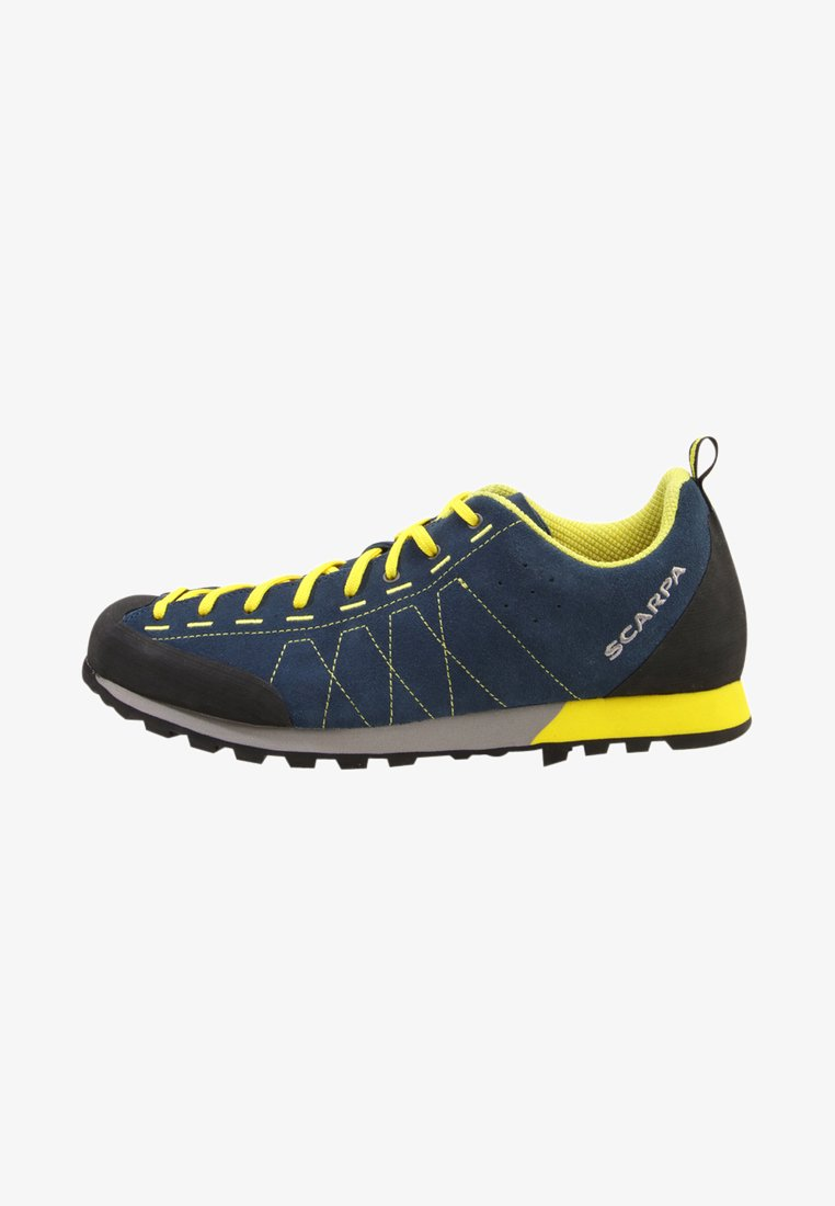 Scarpa - HIGHBALL   - Hiking shoes - ocean/bright yellow