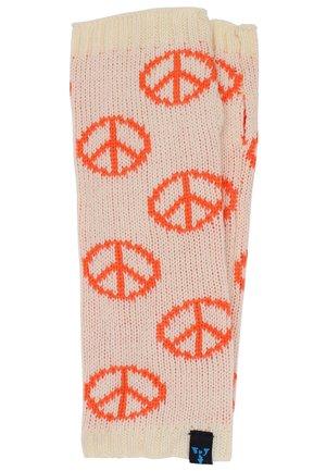 Leg warmers - peace - weiß/orange