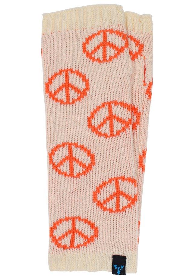 Säärystimet - peace - weiß/orange