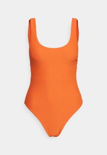 ESSENTIALS RETRO TANK MAILLOT - Plavky - pumpkin
