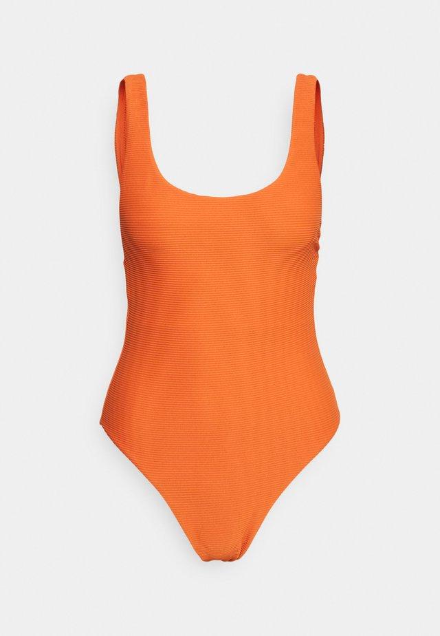 ESSENTIALS RETRO TANK MAILLOT - Swimsuit - pumpkin