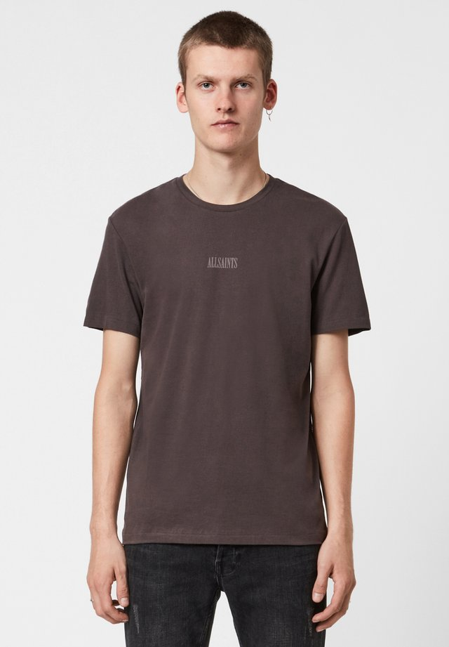 T-shirt z nadrukiem - brown