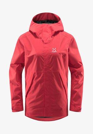 TJÄRN JACKET - Hardshell jacket - hibiscus red