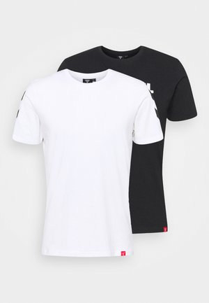LEGACY 2 PACK - T-shirt z nadrukiem - black/white