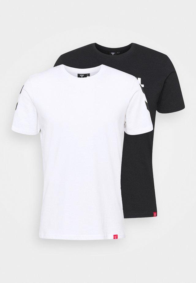 LEGACY 2 PACK - T-shirt imprimé - black/white