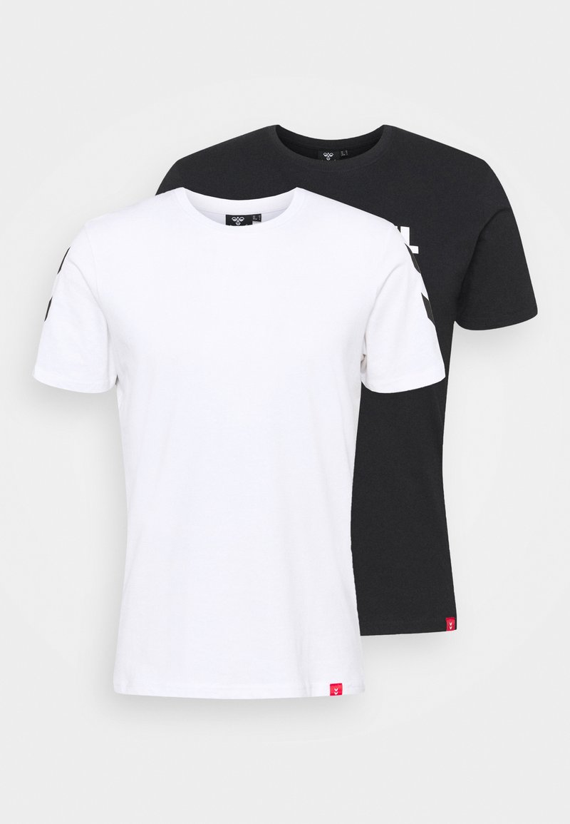 Hummel - LEGACY 2 PACK - T-shirt med print - black/white